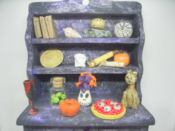 Miniature Halloween witch cupboard OOAK
