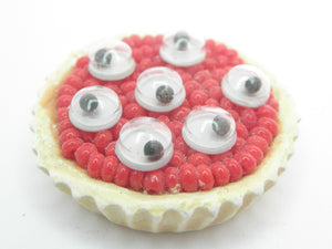 Miniature Halloween red blood cell and eye ball pie