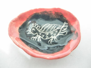 Ceramic Halloween dish with dragon