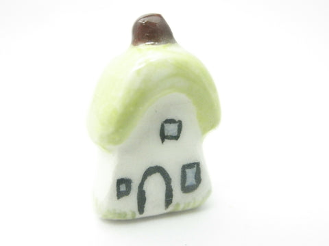 Miniature ceramic Fairy woodland cottage with hay roof