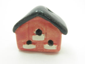 Miniature 1/12th bird house red and black