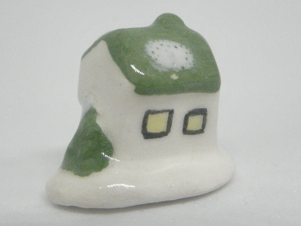 Christmas cottage green