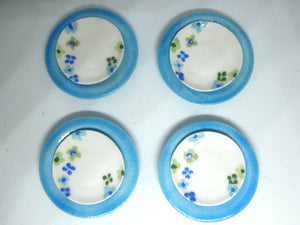 Miniature ceramic dinner set -summer blooms