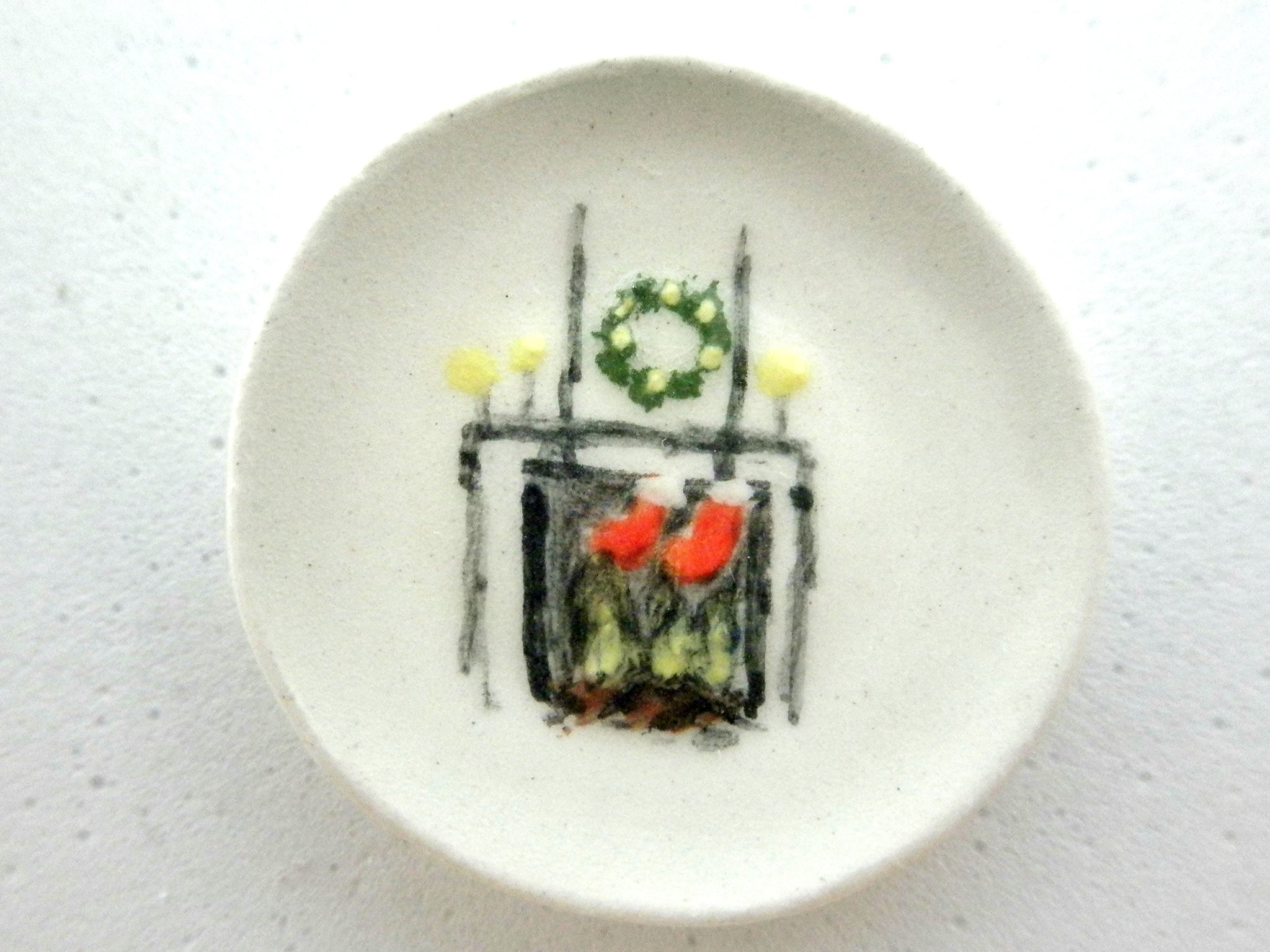 Miniature Christmas plate - Fireplace