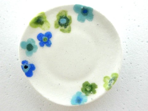 Miniature ceramic plate -summer blooms