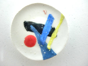 Miniature ceramic plate - art deco