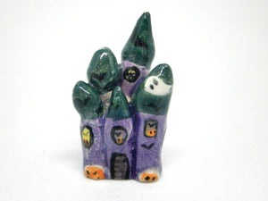 Miniature Ceramic Halloween castle