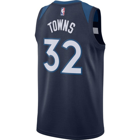 nike nba twolves karl anthony towns road sm jersey
