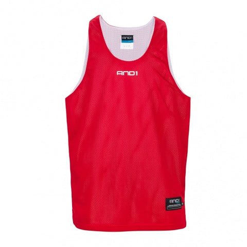 AND1 REVERSIBLE SINGLET - RED/WHITE