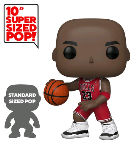 "NBA: Bulls - Michael Jordan Red Jersey 10"" Pop! Vinyl"