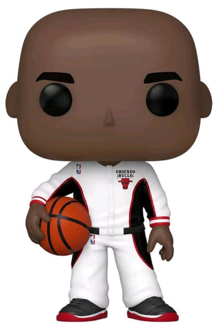 NBA - Michael Jordan (Bulls White Warmup) US Exclusive Pop! Vinyl [RS]
