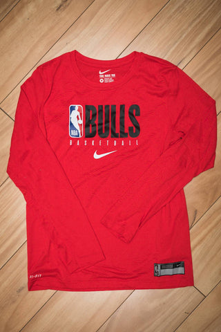 Chicago Bulls Youth Practice GPX LS Tee 19/20