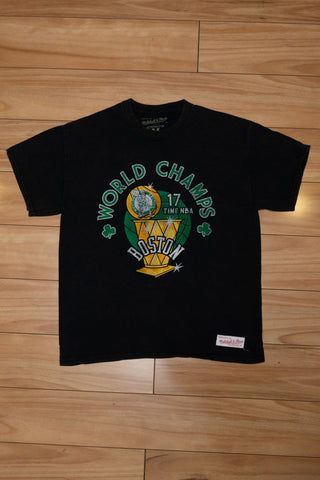 M&N Boston Celtics World Champs Tee
