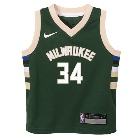 be34cd40c52 ...  Nike NBA  Kids Swingman Bucks Antetokounmpo Icon Jersey