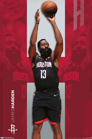 Houston Rockets James Harden Poster