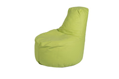 Kids Tech-Leather Bean Bag Chair- Lime Green