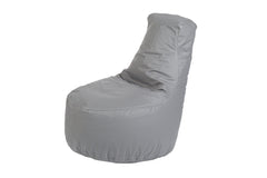 Kids Tech-Leather Bean Bag Chair- Slate Gray