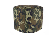 Durable Woodlands Camo Large Pouf Ottoman