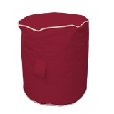 Footstool - Burgundy/Cream