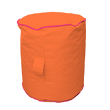 Footstool - Orange/Pink