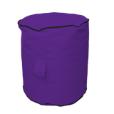 Footstool - Purple/Black
