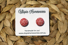 Load image into Gallery viewer, Handmade Fabric Button Earrings