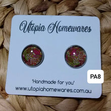 Load image into Gallery viewer, Cabochon Earrings - Paisley prints theme