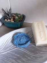 Load image into Gallery viewer, Hand knitted cotton face scrubbie