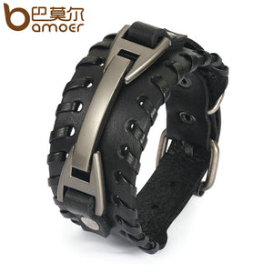 Vintage Multilayer Leather Bracelet With Clasp