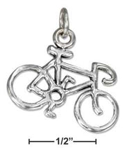 Load image into Gallery viewer, Sterling Silver Bicycle Charm