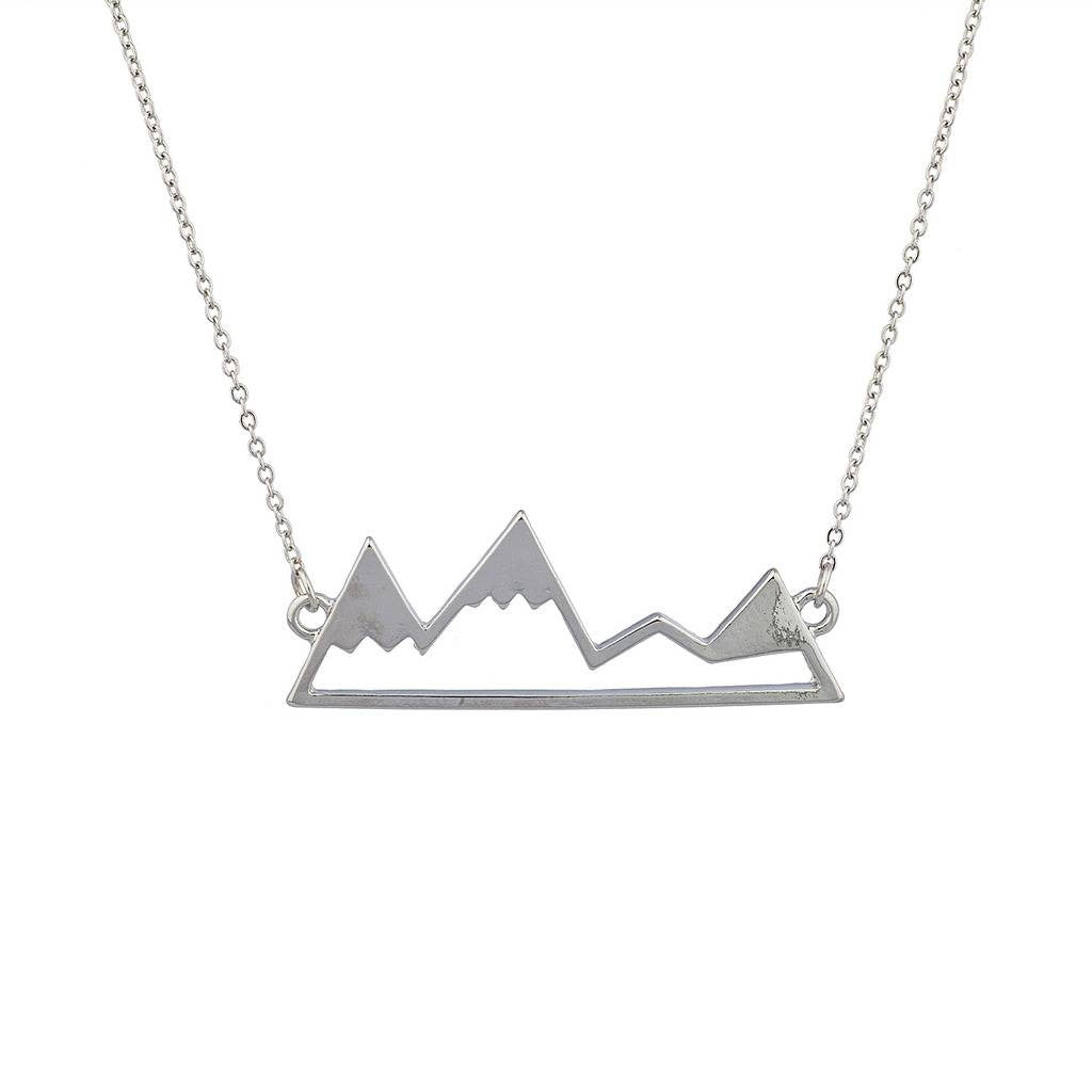 Top Of The Mountain Snowboard  Pendant Necklace