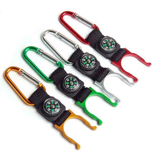 5pcs Outdoor Water Bottle Holder Compass Clips for Camping Hiking with Belt Buckle for Water Bottle (Random Color)