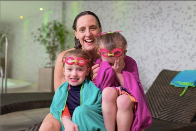 Karen Pickering: Mia and Evie's first swims