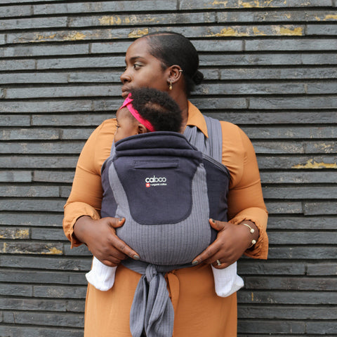 Caboo + Organic Baby Carrier Herringbone - Twilight