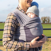 Caboo + Organic Baby Carrier Double Faced - Drizzle