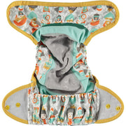 Pop-in Single Printed Reusable Popper Nappy +bamboo - Bliss Collection