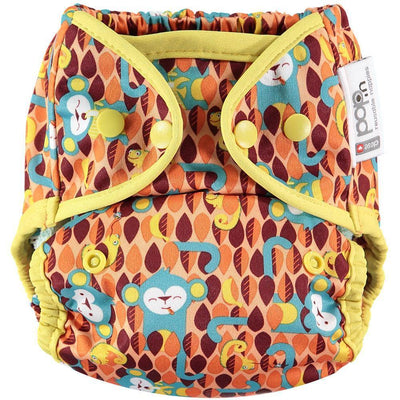 Pop-in Single Printed Reusable Popper Nappy +bamboo Hidden Animal Collection