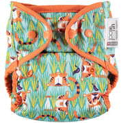 Pop-in Single Printed Reusable Popper Nappy +bamboo -Hidden Animal Collection
