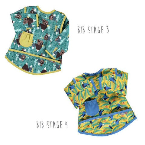 Bib Set 6-36 Months Baby Led Weaning - Bear, Twilight