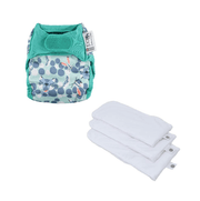 Printed Newborn Nappy Gift Set - Newborn Nappy Snow Leopard, Newborn Soaker (Pack of 3)