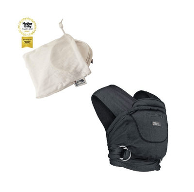 New Mum Cuddle Bundle - Caboo Cotton Blend Phantom, Breast Pads (3 pairs in bag)