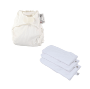 Plain Newborn Nappy Gift Set - Newborn Nappy Marshmallow, Newborn Soaker (Pack of 3)