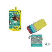 Winter Print Change Set - Baby Wipes Brights 2020, Change & Go Mat Bear