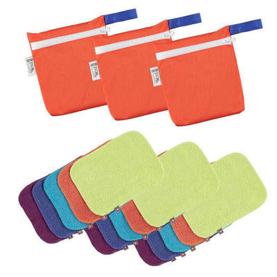 Multipack of Pop-in Reusable Bamboo Wipes x3