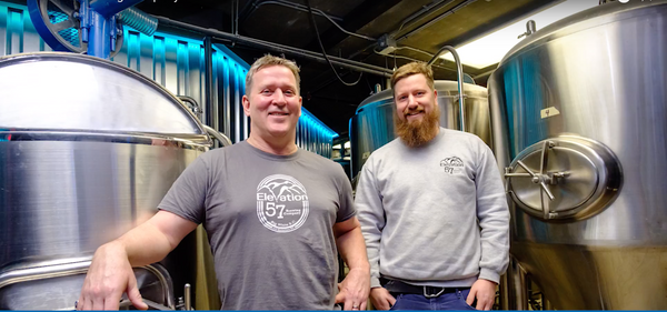 Head Brewers at Elevation 57 Brewing Co, Brad Powell and Brendan Amond