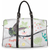 Jamaican Humming Bird Fashion Travel Bag TravelBag-Small-20190322154231271 $54.90 $54.90 $63.90 $50 - $100, bag, Black, Brown, Caribbean Print, fashion bag, feed-agegroup-adult, feed-customproduct, feed-sl-free shipping, floral bag, Fun Travel, lb-collection-full-priced, SSWS, travel bag, White Accessories SunPlum Sizes Small Handle Color Brown SunPlum