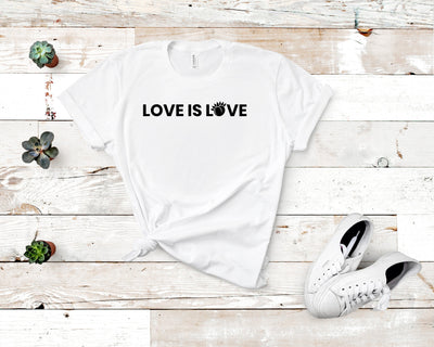 Love is Love Short-Sleeve Unisex T-Shirt White,S,White,M,White,L,White,XL,White,2XL,White,3XL,Athletic Heather,S,Athletic Heather,M,Athletic Heather,L,Athletic Heather,XL,Athletic Heather,2XL,Athletic Heather,3XL,Soft Cream,S,Soft Cream,M,Soft Cream,L,Soft Cream,XL,Soft Cream,2XL,Soft Cream,3XL,Ash,S,Ash,M,Ash,L,Ash,XL,Ash,2XL,Heather Blue,S,Heather Blue,M,Heather Blue,L,Heather Blue,XL,Heather Blue,2XL,Heather Blue,3XL,Heather Prism Ice Blue,S,Heather Prism Ice Blue,M,Heather Prism Ice Blue,L,Heather Prism