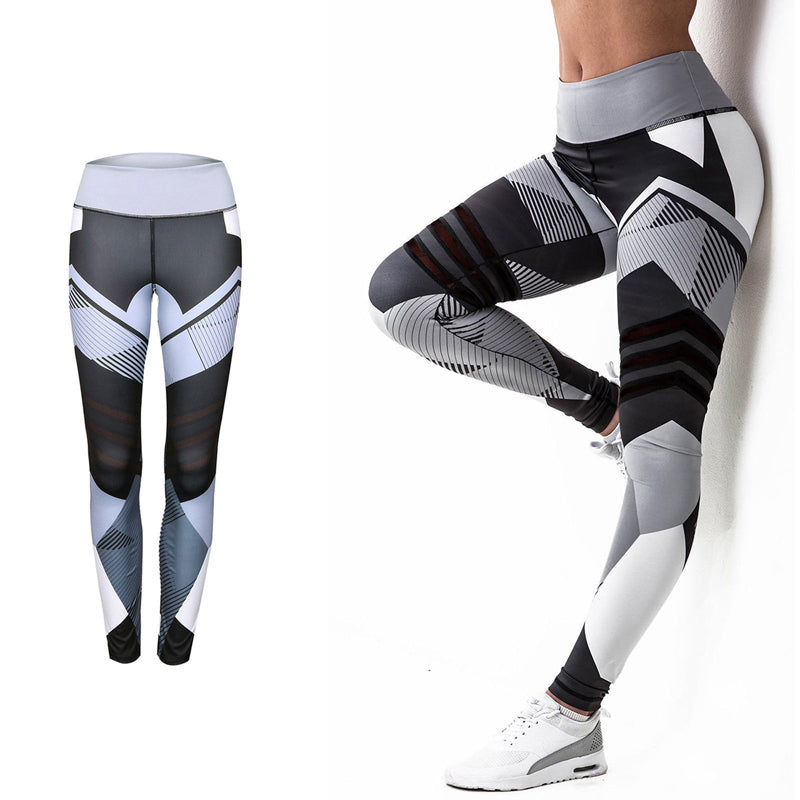 Sporty Casual Fitness Leggings with Diagonal Work (Women)