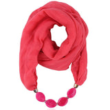 Women Fashion Soft Cotton & Linen Urban Chic Scarf Necklace