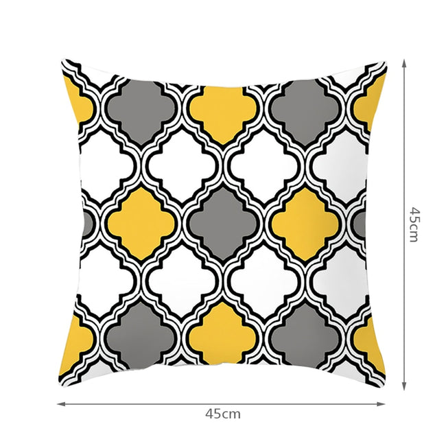 Electric Wave Vibe Cushion Throw Pillow Covers Yellow Gray White Black Sofa and Bed Pillow Sham